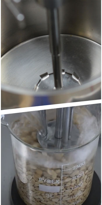 Close-up of laboratory mixers